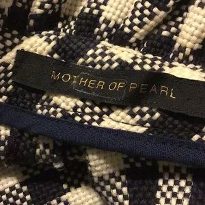 Mother of Pearl Tops - Mother of Pearl Navy Check Blouse